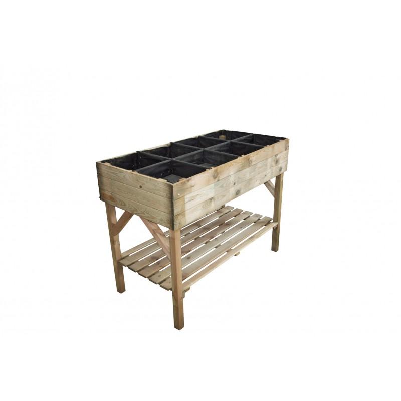 Table potagère, jardin, maison, bois autoclave clas 3, potager, décoration